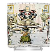 Thanksgiving Cartoon, 1898 Shower Curtain