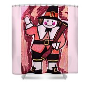 Thanksgiving Day Pilgrim Shower Curtain