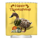 Thanksgiving Indian Duck Shower Curtain