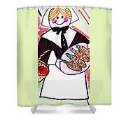 Thanksgiving Lady Pilgrim Shower Curtain