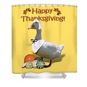 Thanksgiving Pilgrim Duck Shower Curtain