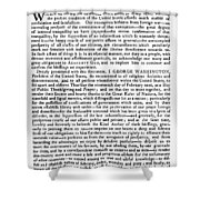 Thanksgiving Proclamation Shower Curtain by Granger