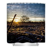 Thanksgiving Sunrise Shower Curtain