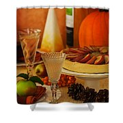Thanksgiving Table Shower Curtain