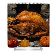 Thanksgiving Turkey For Us Military Servicemen Shower Curtain