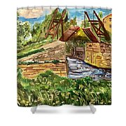 The Langloise Bridge Shower Curtain