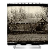 That Old Covered Bridge Shower Curtain