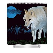 That Wolf Shower Curtain