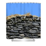 Thatched Cottage Gable Shower Curtain