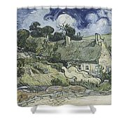 Thatched Cottages At Cordeville Shower Curtain