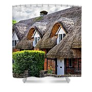Thatched Cottages In Chawton 2 Shower Curtain