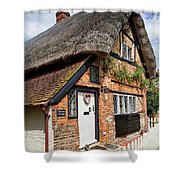 Thatched Cottages In Chawton 4 Shower Curtain