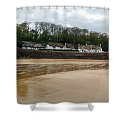 Thatched Cottages In Dunmore East Ireland  Shower Curtain