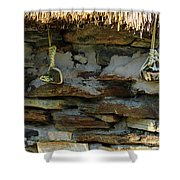 Thatched Roof Ties Shower Curtain
