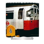 That'll Be The Day - Locomotive - London Underground - Retro Travel Poster - Vintage Poster Shower Curtain