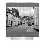 Thaxted Cottages In Black And White Shower Curtain