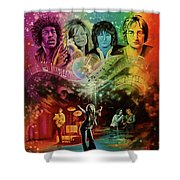 The 4js Shower Curtain