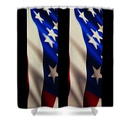 The Fourth At The Speedway Shower Curtain