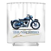 The 52 Thunderbird Shower Curtain