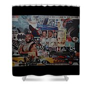 The 80 S Collage Shower Curtain