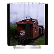 The 909 Caboose Shower Curtain