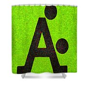 The A With Style Lime - Pa Shower Curtain