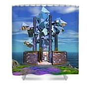 The Aardvark Art Museum Shower Curtain