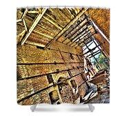The Abandoned Furnace Quarry Building Shower Curtain by Enrico Pelos