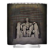 The Abraham Lincoln Memorial Shower Curtain