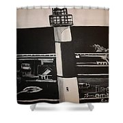The Absecon Lighthouse Shower Curtain