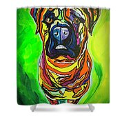 The Abstract Mastiff Shower Curtain
