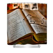 The Accountant's Ledger Shower Curtain by Paul Ward
