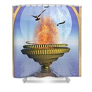 The Ace Of Cups Shower Curtain by John Edwards