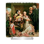 The Acquittal Shower Curtain by Abraham Solomon