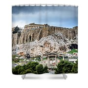 The Acropolis - Athens Greece Shower Curtain