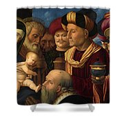 The Adoration Of The Magi Shower Curtain