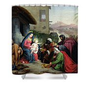 The Adoration Of The Magi Shower Curtain by Jean Pierre Granger