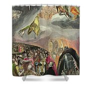 The Adoration Of The Name Of Jesus Shower Curtain