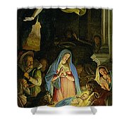 The Adoration Of The Shepherds Shower Curtain by Federico Zuccaro