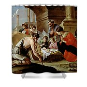 The Adoration Of The Shepherds Shower Curtain by Louis Le Nain