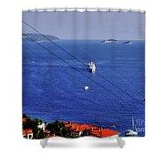 The Adriatic Sea Shower Curtain
