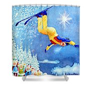 The Aerial Skier 18 Shower Curtain