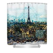 The Aesthetic Beauty Of Paris Tranquil Landscape Shower Curtain
