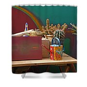 The African Watering Can Shower Curtain