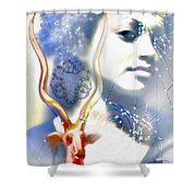 The African Witchweaver Shower Curtain