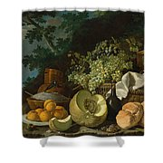 The Afternoon Meal Shower Curtain