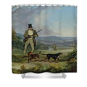 The Afternoon Shoot Shower Curtain by Philip Reinagle