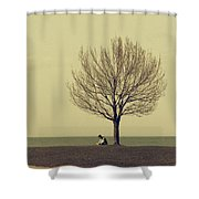 The Afternoon Spent Shower Curtain