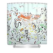 The Afternoon Walk Shower Curtain