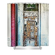 The Aged Door Shower Curtain